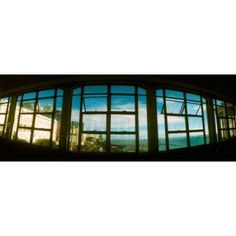 Coast viewed through from a window of Lacerda Elevator Pelourinho Salvador Bahia Brazil Canvas Art - Panoramic Images (18 x 7)