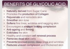 Benefits of Glycolic Acid. My fave is NeoCutis face wash. Glycolic acid is commonly used in more concentrated forms by aestheticians as in office peels. At home Use 2-3x a week in conjunction with Retin A to reduce wrinkles/acne/dark spots.   Be careful it can cause redness and flaking if the wash is too strong or used too close to the Retin A application. #charlottepediatricclinic