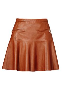 Designer Clothes, Shoes & Bags for Women Full Skirt Outfit, Long Skirt Outfits, Sexy Skirt, Modest Outfits, Modest Clothing, Summer Outfits, Real Leather Skirt, Brown Leather Skirt, Leather Skirts