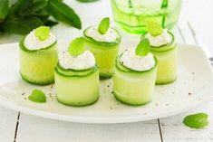 Cucumber Feta Yogurt Rolls with Chia Seeds Raw Food Recipes, Low Carb Recipes, Healthy Recipes, Breakfast Photography, Food Photography, Cucumber Rolls, Food 101, Avocado Egg, Creative Food