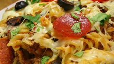 This recipe takes all the good things we love on pizza and combines them with egg noodles to form a great, one-dish casserole to feed your family.