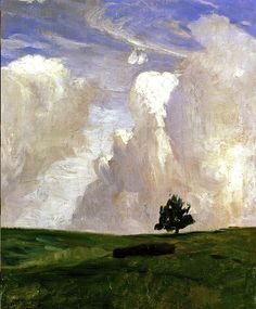 Wolkenberge Clouds Mountains, 1892, Otto Modersohn. Germany (1865 1943)