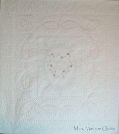 Custom White Rose Quilt for Jeanette