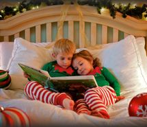 Inspiring picture bed, book, christmas, cute, kid. Resolution: 500x357 px. Find the picture to your taste!