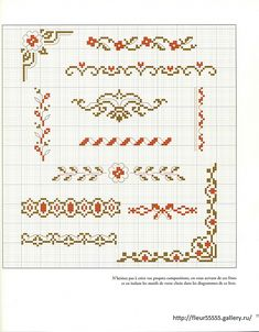 Gallery.ru / Фото #1 - 26 - Fleur55555 borders cross stitch point de croix