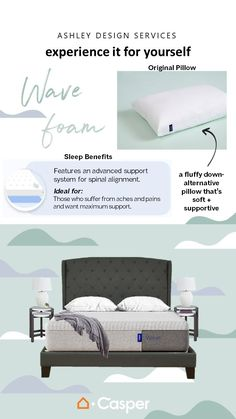 Sleep is essential to our mental and physical health, which is why we've partnered with Casper to help you achieve your best night's sleep. Learn more about the revolutionary design of the Casper mattress and discover your new sleep essentials from Ashley HomeStore. Casper Mattress, Benefits Of Sleep, Good Night Sleep, Service Design, Home Furnishings, Essentials, Goals, Pillows, Bedroom