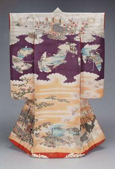 """Meiiji era kimono depicting the """"Tale of Genji"""" ~AmyLH~"""