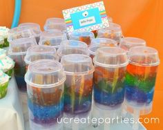 olympic treat cards  I could make these in plastic cups for the kids