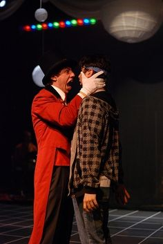 """""""Joey, you have to listen to your heart!"""" This picture cracks me up so much. #Starkid #JoeyRichter #AJHolmes"""