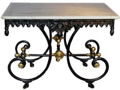"Carolyn Williams, Antiques & Interiors, Atlanta & Roswell, GA French Pastry Table: ""versatile today for many uses + mixes with many styles: A great look for kitchen island, a console in foyer /dining room, repurpose with vessel sink for powder room bath"""