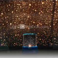 Starry Night Sky Projector Colorful LED Night Light (Random Color,Powered by 3 AA Battery) 2017 - $10