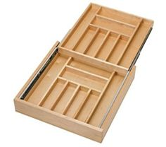 Rev-A-Shelf Double Tiered Cutlery 20-1/2in Wood