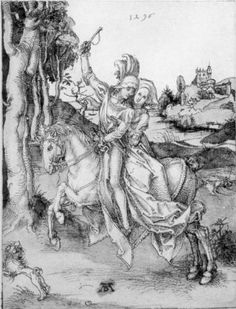 Couple on Horseback - Albrecht Durer