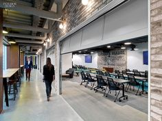 Connections Are Multiplying: Toronto Among Five IA-Designed LinkedIn Projects. Flooring shifts to nylon carpet tile in the training center. #office