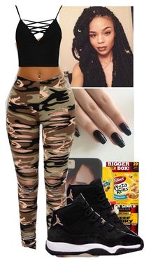 A fashion look from April 2017 featuring cami top and camouflage leggings. Browse and shop related looks. Swag Outfits For Girls, Summer Outfits For Teens, Dope Outfits, Chic Outfits, Spring Outfits, Girl Outfits, Fashion Outfits, School Outfits, Trendy Outfits