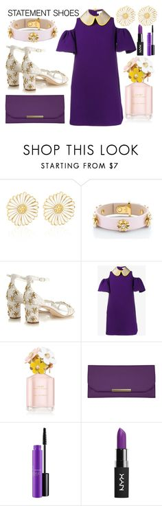 """""""Statement Shoes"""" by lycanthrope-misanthrope ❤ liked on Polyvore featuring Alison Lou, Kate Spade, Dolce&Gabbana, Delpozo, Marc Jacobs, Travelon, MAC Cosmetics, NYX and statementshoes"""