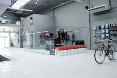 Collect this idea Biking fans everywhere, here is something that will make your day! Designed by architect Joan Sandoval, this incredible bike store located in  Barcelona displays its products as if they were paintings in a gallery: using white and well-lit display cases for a maximum customer's thrill. Found on Notcot, Pave features various products, …