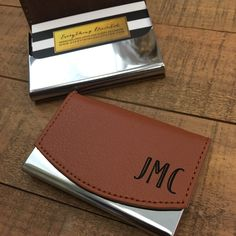 Hey i found this really awesome etsy listing at httpsetsy custom engraved leather business card holder groomsmen gift personalized business card case groomsman gift wedding favor reheart Choice Image