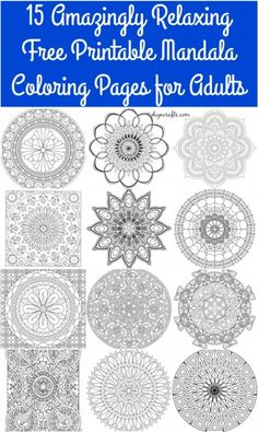 15 Amazingly Relaxing Free Printable Mandala Coloring Pages For Adults
