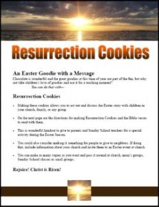 Resurrection Cookies. Did this with my nephews tonight. Wondering how they'll turn out tomorrow morning LOL