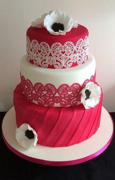 Hot pink, Cake Lace & Anemone