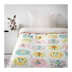 IKEA - LATTJO, Duvet cover and pillowcase(s), , Cotton is soft and feels nice against your child's skin.The tightly-woven fabric is of 100% cotton and extra durable, fade-resistant and soft.Easy to keep clean; machine wash hot (140°F).