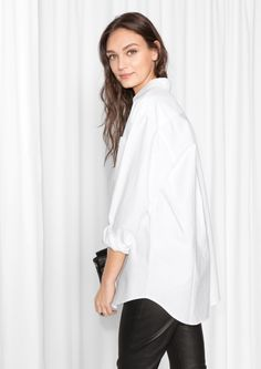 & Other Stories image 3 of Oversized Shirt in White