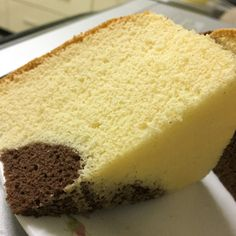 Marble Butter Sponge Cake Ingredients:- 60g unsalted butter 85g self raising flour 4 egg yolks (from 65g eggs) 60g milk 1 tsp vanilla extract 1/4 tsp salt 1 tablespoon cocoa powder (sifted) 4 egg w…