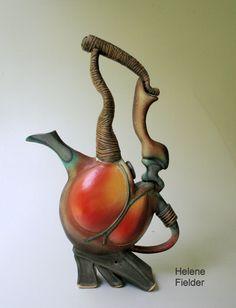 Sculptural Stoneware Tea Pot