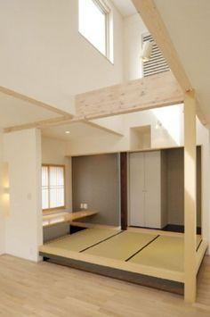Japanese Interior Design - Japanese House Design by Plain Raw Wood Japanese Modern House, Japanese Home Design, Japanese Home Decor, Japanese Room Divider, Japanese Interior Design, Asian Design, Modern Architecture Design, House Architecture, Zen Interiors