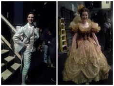 """""""A new lord and lady in the kingdom!"""" - Ann Harada It's our new swings, Callan Bergmann and Jessica Hershberg. Rodgers And Hammerstein's Cinderella, Cinderella Broadway, Laura Osnes, Costume Ideas, Costumes, Swings, Costume Design, Backstage, Ann"""