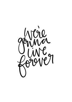 Live Forever Oasis Lyrics A3 Print
