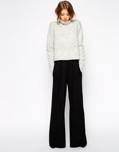 ASOS+Wide+Leg+Trousers+in+Jersey