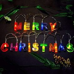 Leagway MERRY CHRISTMAS lights, Multi-color Merry Christmas Letter Battery Operated LED String Light Banner, Christmas Party Decor Supplies for Christmas Xmas Party Home Decorations - List for Home and Garden Products Christmas Party Decorations, Xmas Party, Light Decorations, Cheap Christmas, Christmas Crafts, Merry Christmas, Christmas Letters, Christmas Clothes, Christmas Ideas