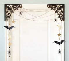 Halloween Scroll Deco-Dangler Home Decor by Rob & Bob. Make It Now in Cricut Design Space ----- this is pretty!