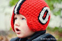 Ohio State Football Helmet-Toddler Size-Hand Crocheted Hat. $40.00, via Etsy.