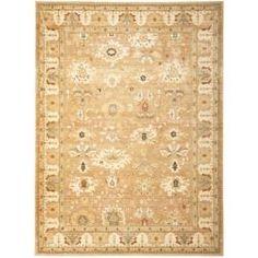 Safavieh Oushak Light Brown/ Light Brown Powerloomed Rug (9'6 x 13'). Overstock.com
