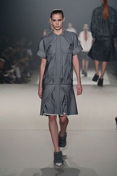 Alexander Wang Fall 2013 shows us a sleek way to wear gray. #fashion