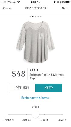 This is kind of hideous, but it is really comfy.  I kept it for the Stitch Fix discount and to lounge in.