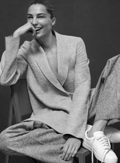 Lounge suit - Daria Werbowy by David Sims for Vogue lounge
