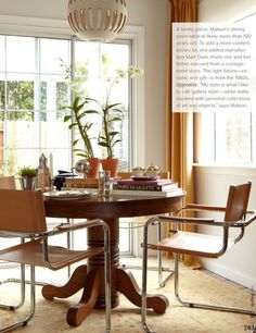 trad table...modern chairs