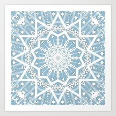 Winter Morning by Fuzzyfox on Society6 #Winter #morning #snowflakes #snow #christmas #white #blue #abstract #pattern #digitalart #Fuzzyfox #society6