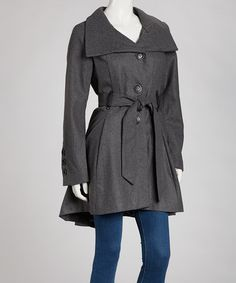 Look at this #zulilyfind! Charcoal Belted Jacket #zulilyfinds 16.99