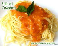 Espaguetis en salsa napolitana