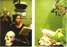 Orlan, Omnipresence-Surgery, 1993. Performance artist Orlan has plastic surgery to construct herself.