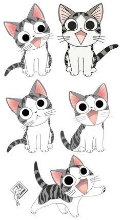 New Cute Cars Illustration Draw Gatos Ideas Chi Le Chat, Mr Cat, Kawaii Cat, Kawaii Anime, Car Illustration, Anime Cat, Cute Animal Drawings, Cute Cars, Cat Drawing