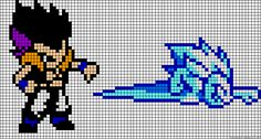 Dragon Ball Z perler bead pattern Pearler Bead Patterns, Perler Patterns, Dragon Ball Z, Pixel Dragon, Anime Friendship, Graph Paper Art, Anime Pixel Art, Stitch Cartoon, Pixel Pattern