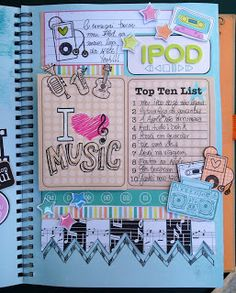 Inspiration: I ♥ Music Smashbook Page