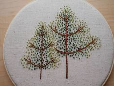 french knot trees <3