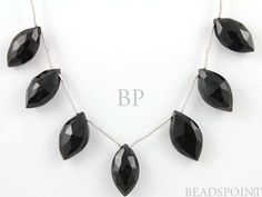 Natural ''NO TREATMENT'' Black Onyx Faceted Large by Beadspoint, $33.95